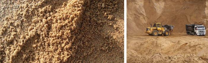 Песок, добываемый в карьерах