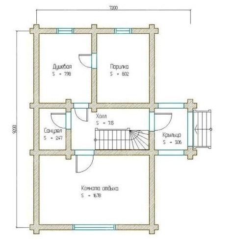 Схема банной постройки