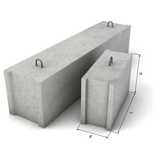 Фундаментные строительные блоки - габариты и расценки