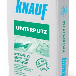 Цементная штукатурка Knauf Unterputz для фасада весом 25 кг