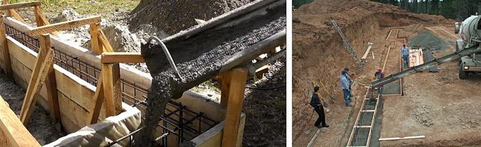 Устройство железобетонных монолитных фундаментов в Мытищах