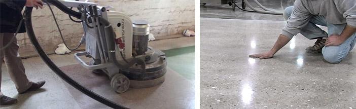 Шлифовка поверхности из бетона
