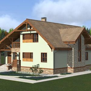 Проекты загородных домов из газобетонных блоков