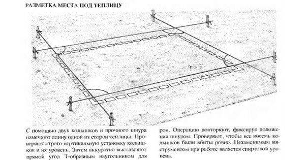 Разметка площадки