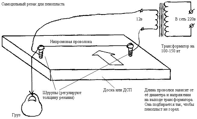 Схема самодельного резака