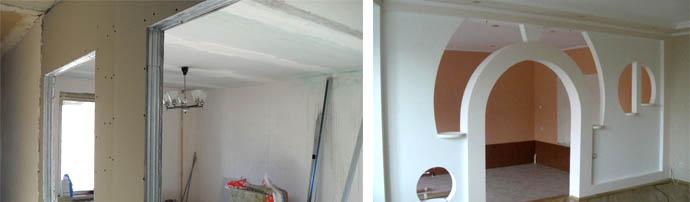 Гипсокартонная стенка между комнатами