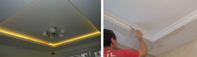Как самому сделать гипсокартонный двухъярусный потолок