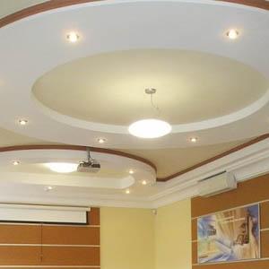 Потолки с фигурными элементами из гипсокартонных листов