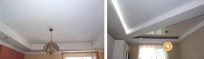 Рамочный и диагональный потолки