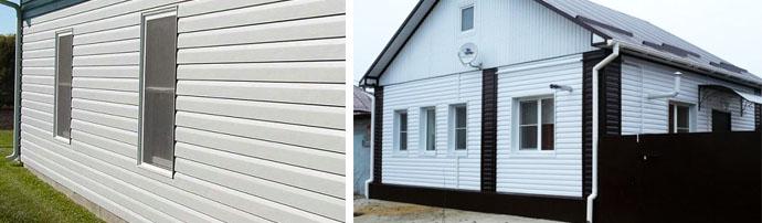 Варианты отделки фасадов