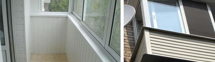 Обшивка балкона панелями сайдинга своими руками