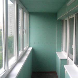 Отделка балкона листами из гипсокартона