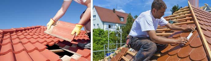 Процесс реставрации крыши