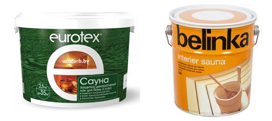 Eurotex и Belinka для сауны