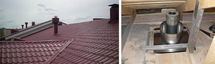 Вентиляция на крыше и прокладка воздуховода через кровельный пирог