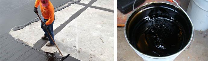 Гидроизоляция поверхности крыши на основе битума