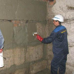 Гидроизоляция проникающего типа для внутренней защиты подвала от грунтовых вод