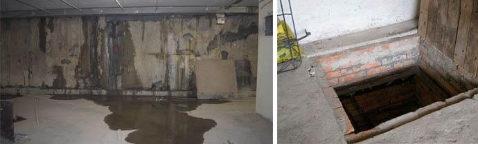 Избыток влаги в подполье и погребе