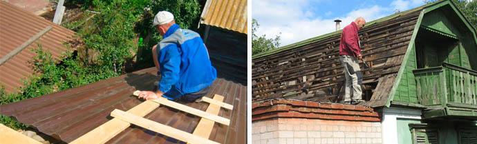 Как отремонтировать крышу своими руками и сколько стоит под ключ