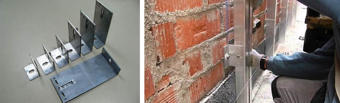 Крепления для вентфасада на строительные кронштейны