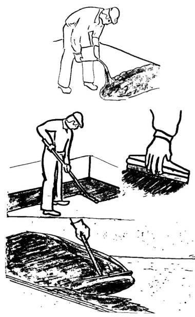 Нанесение мастики