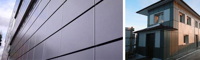 Облицовка фасада здания кассетами из металла