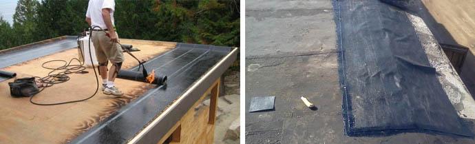 Обустройство крыши гаража