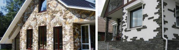 Обшивка дома панелями под камень