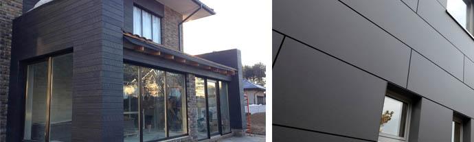 Обшивка фасада здания фиброцементными плитами