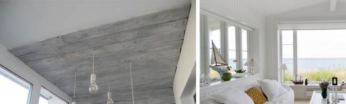 Окрашенные деревянные панели