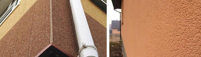 Оштукатуренные фасады частного дома в контрасте с мансардой