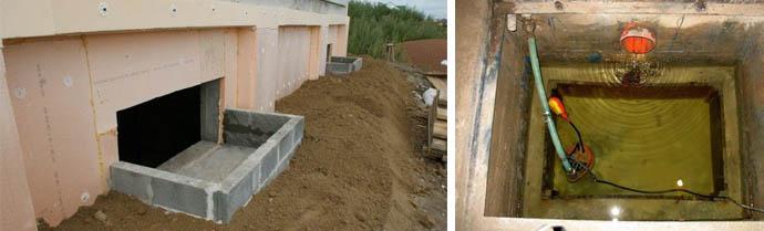 Приямок защитит подвал или погреб дома от затопления и грунтовых вод
