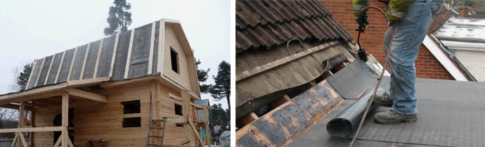 Рубероид один из самых популярных материалов для крыши