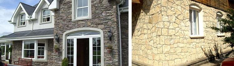 Стены, отделанные камнем