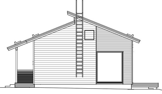 Схема одноэтажного коттеджа