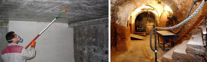 Устранение сырости в погребе и защита его от плесени