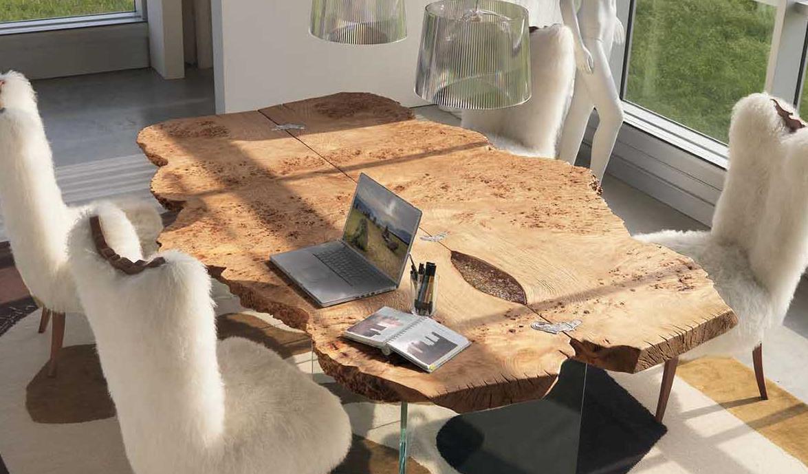 Элитная итальянская мебель из дерева в интерьере гостиной
