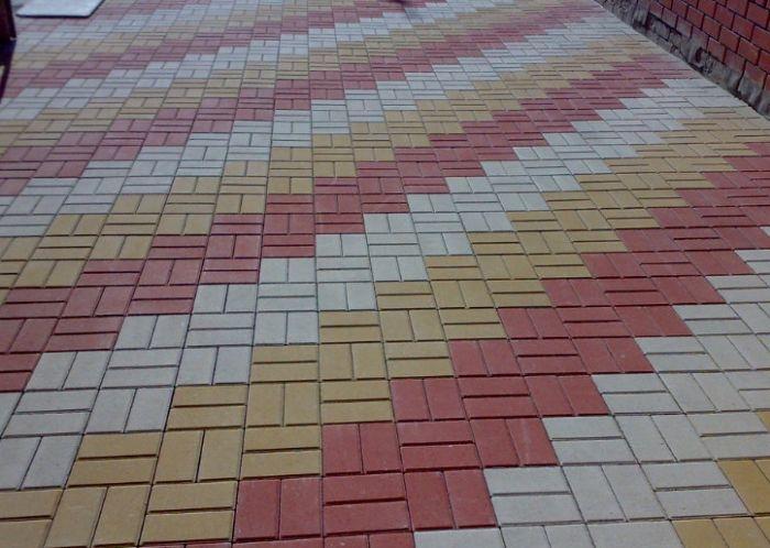 раскладка тротуарной плитки