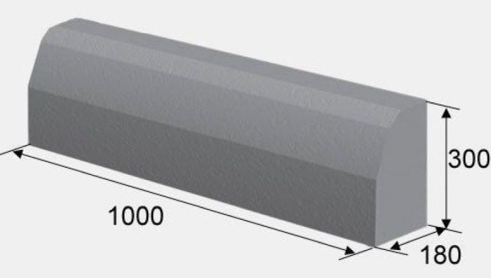 размер бордюрного камня для тротуара