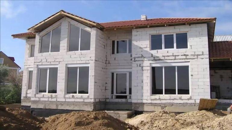 Строительство домов из газобетона своими руками видео
