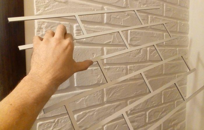стена под кирпич своими руками