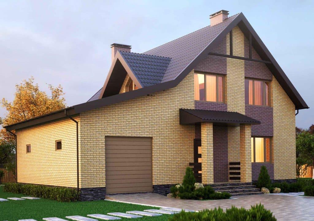 Газобетонные дома с мансардой