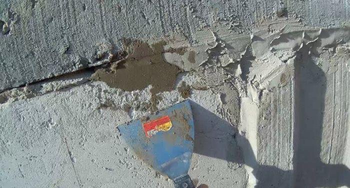 заделка шва цементом