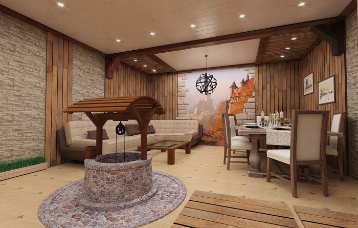 гостевая комната внутри бани