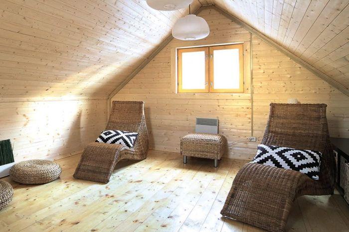 жилая комната в бане дизайн
