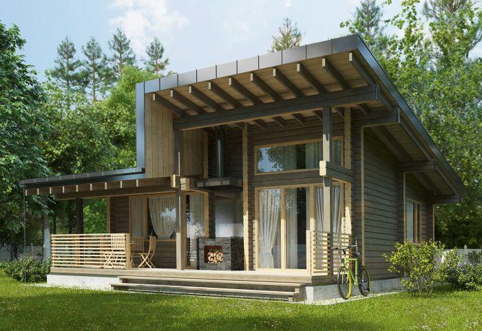 домик с сауной современный