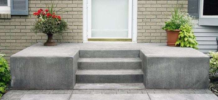 бетооные ступени для дома