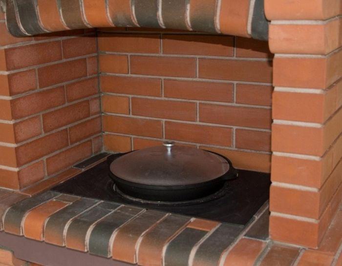 кирпичная печь под казан для дачи
