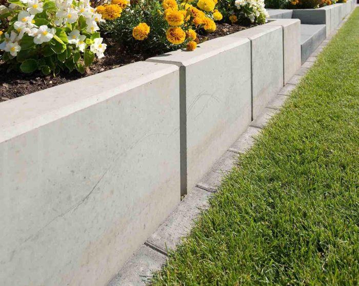 подпорная стенка из бетонных плит