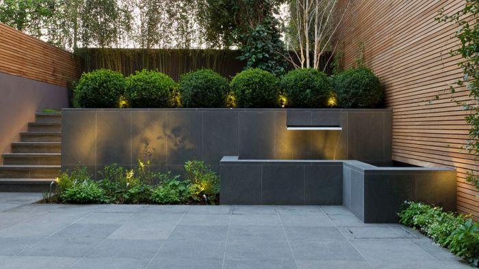 подпорная стенка из бетона с облицовкой плиткой